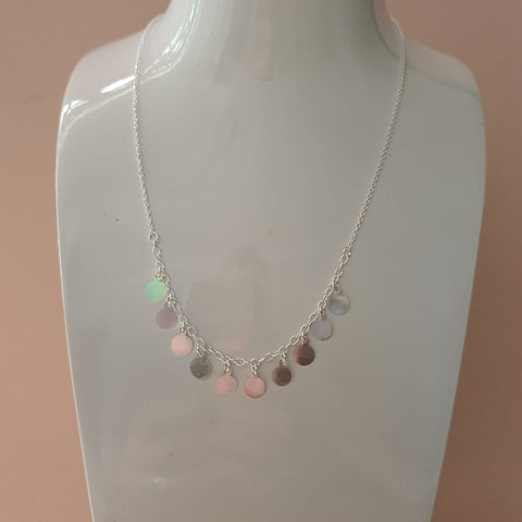 Sterling Silver Dazzling Dot Necklace