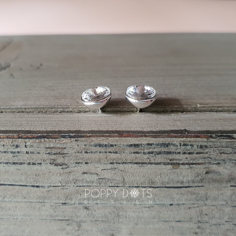 Sterling Silver Zirconia Studs 7 mm