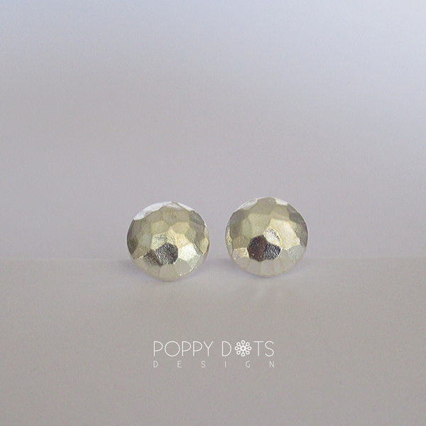 Sterling Silver Hammered Studs