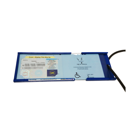 Large Blue Badge Protector (Accommodates the new integrated plastic wallets)