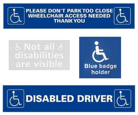 Blue Badge Driver Sticker Bundle