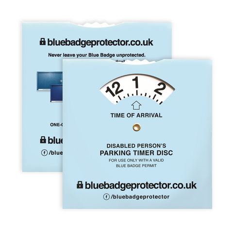 blue badge protector fastens you're badge and clock to your steering wheel