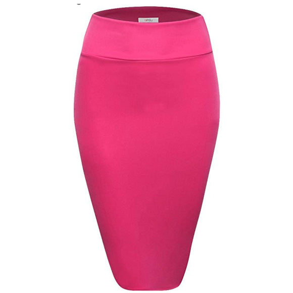 The Girlboss Pink Pencil Skirt