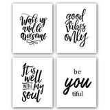 MotivateHER Inspirational Quotes (set of 4) - 8 X 10