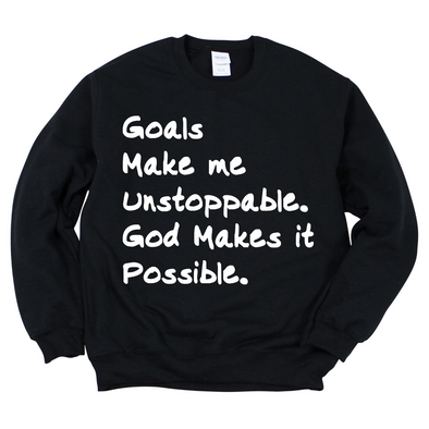 Goals with God Sweatshirt
