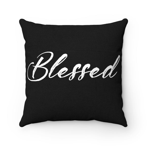 Blessed Black Pillow