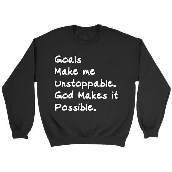 Goals with GOD Crewneck Sweatshirt