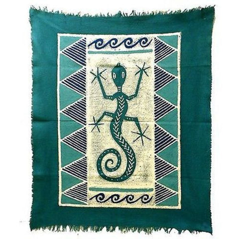 Gecko Batik in Three Blues Handmade and Fair Trade