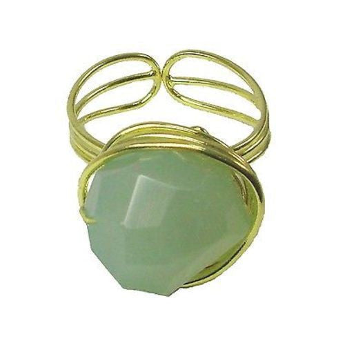 Agate Chunk Statement Ring in Teal Handmade and Fair Trade