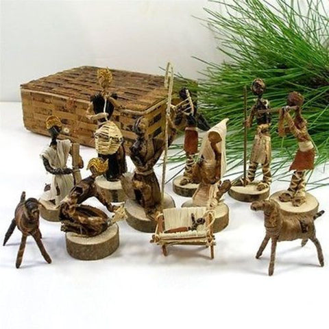 Banana Fiber Nativity Set Handmade and Fair Trade