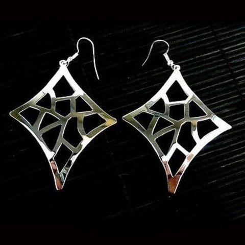 Large Silverplated Starlight Earrings Handmade and Fair Trade