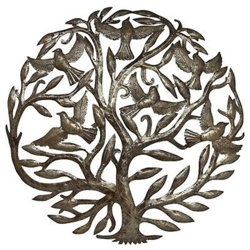 Steel Drum Art - 24 inch Tree of Life Handmade and Fair Trade