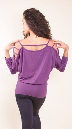 Open Shoulder Top 3/4 Sleeve