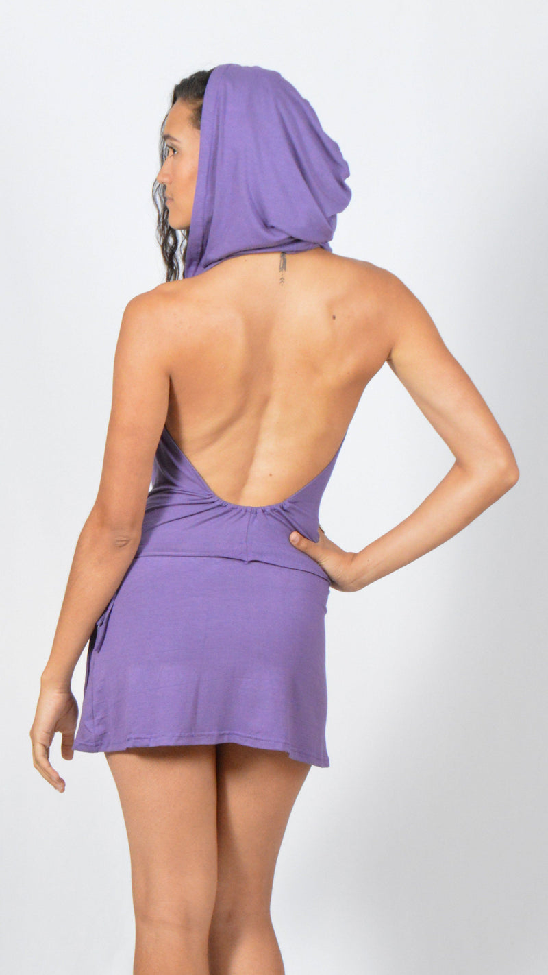 Open Back Hooded Dress