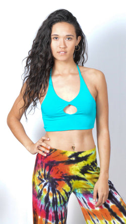Key Hole Halter Bra Top