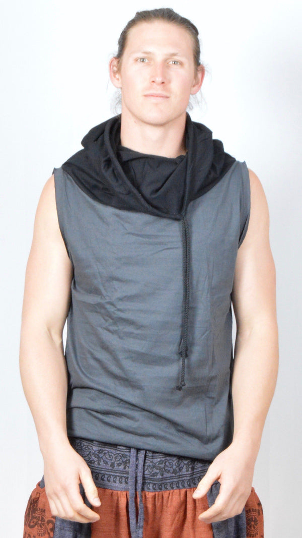 Cowl Neck Muscle Sleeveless Shirt Tank