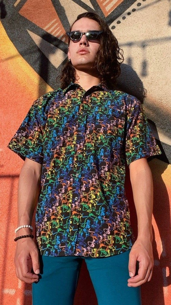 Dancing Skeltons Grateful Dead Dress Shirt