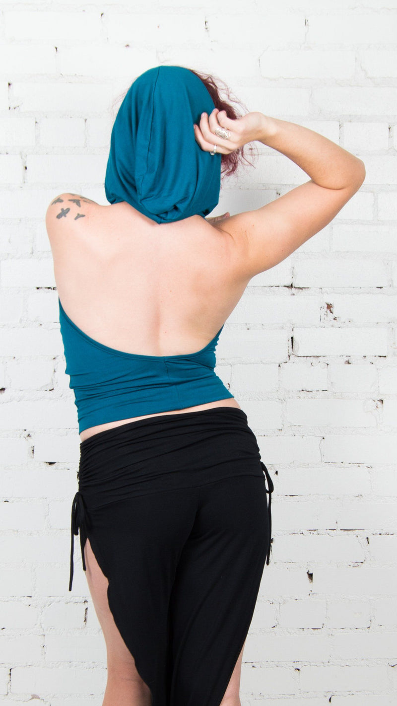 Hooded Open Back Cowl Tank