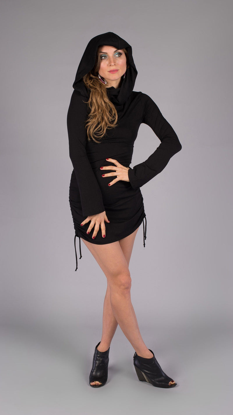 Black Bamboo Long Sleeve Huntress Dress