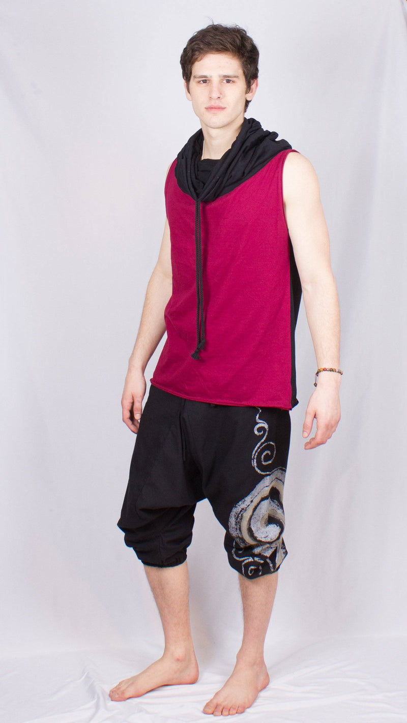 Cowl Neck Men's Sleeveless Tank
