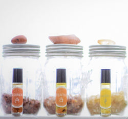 Lower Chakra Crystal Oil Blend Set