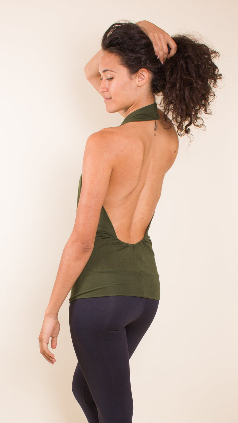 Open Back Cowl Tank