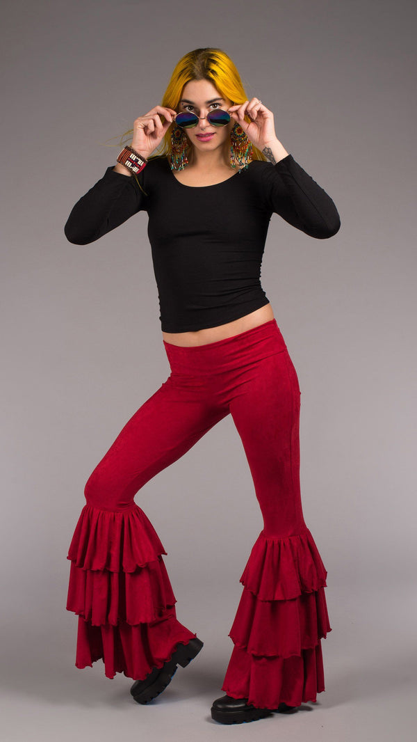 Fire Engine Red Suede Pirate Pants