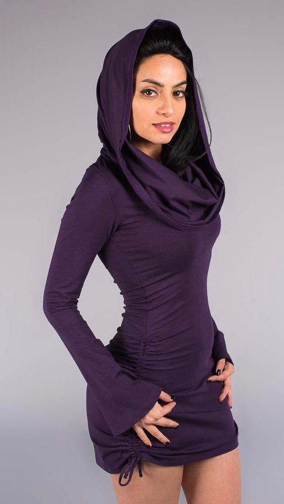 Purple Bamboo Sleeved Huntress Cinch Dress