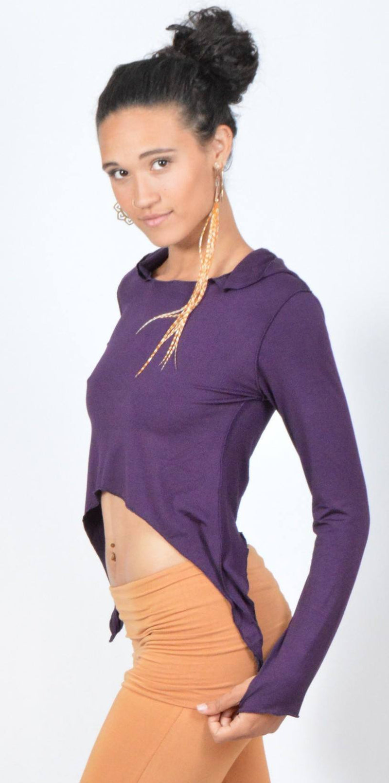 Cropped Thumbhole Hoodie