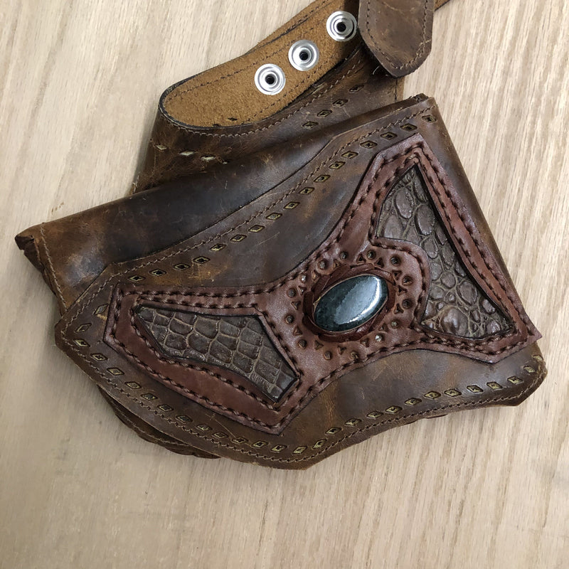Handmade Leather Holster - Jade/Black Jade