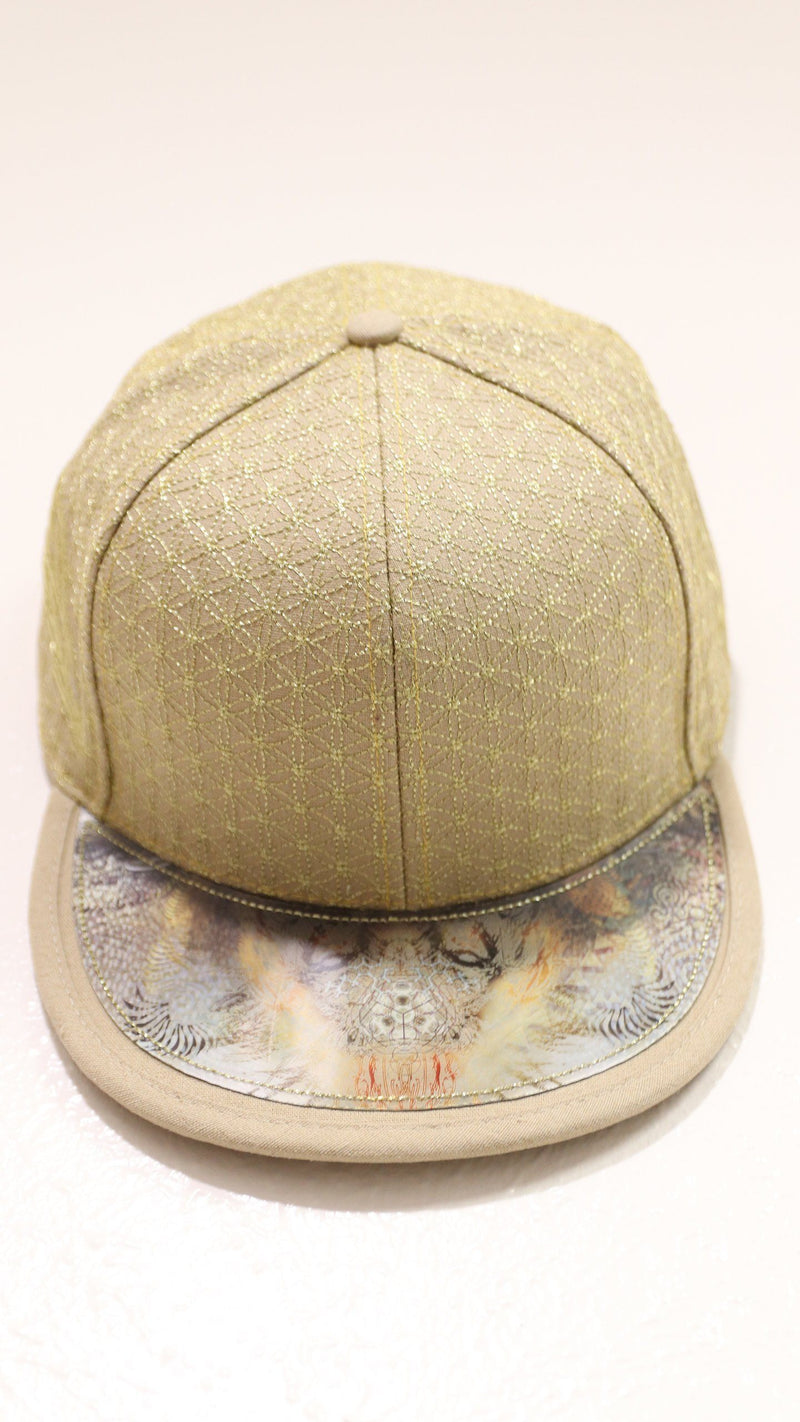 Metalic Gold and Tan Hologram Snapback