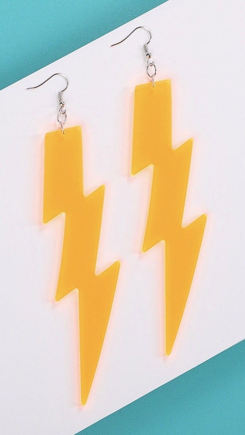 Lightning Bolt Earrings - Large
