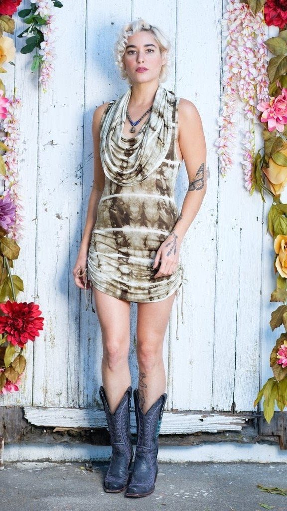 Olive Bone Huntress Cinch Dress