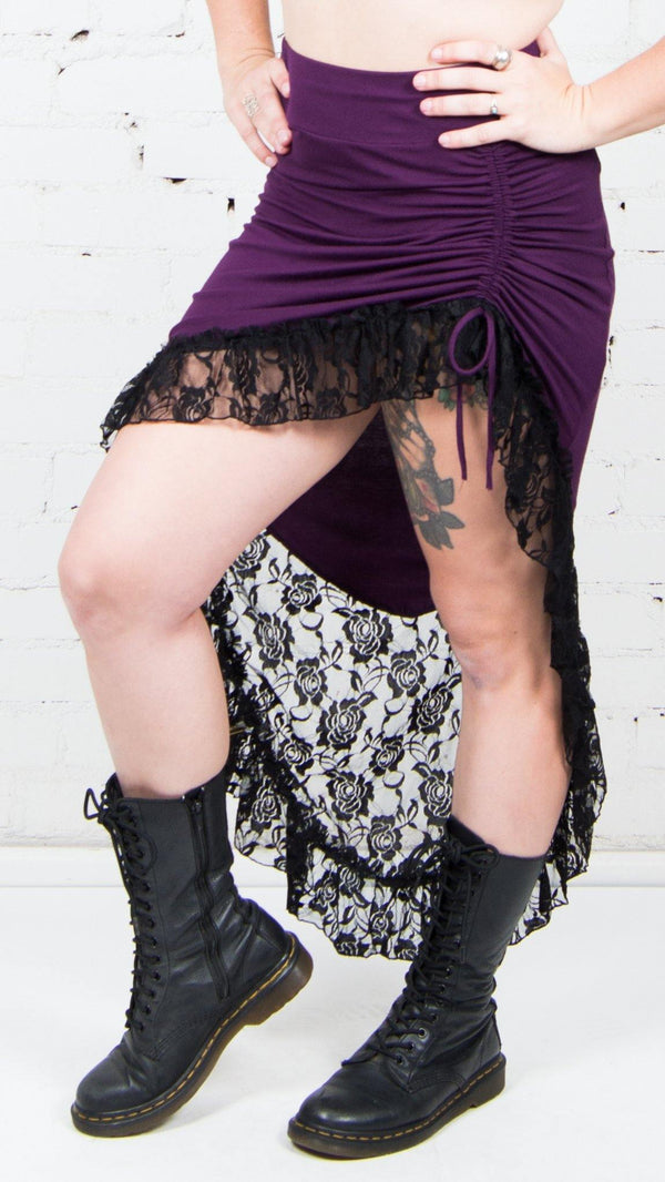 Side Cinch Lace Skirt