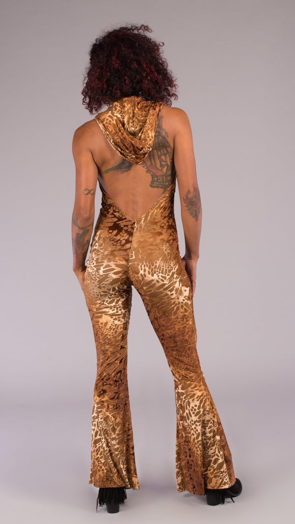 Gold Burnout Mystique Onesie