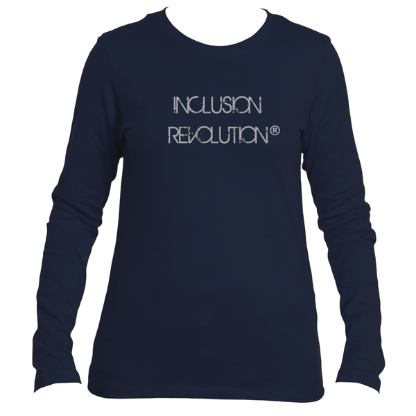 Womens Long Sleeve Inclusion Revolution Logo Tee
