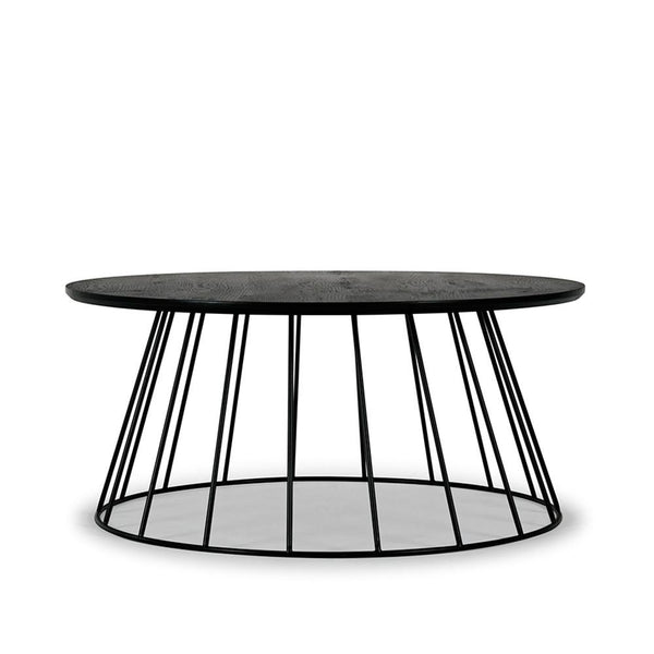 Black Column Tapered Coffee Table