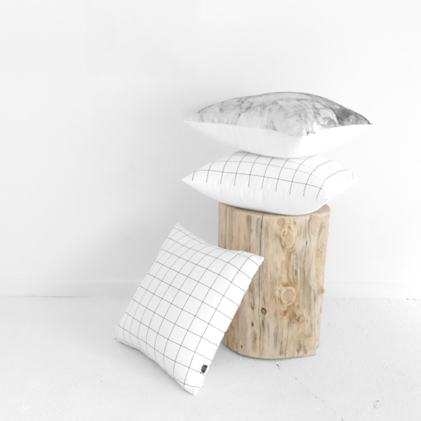 Grid Cushion White - Clkspace
