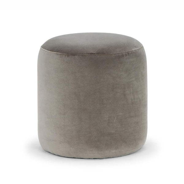 Drum Ottoman in Mouse Grey