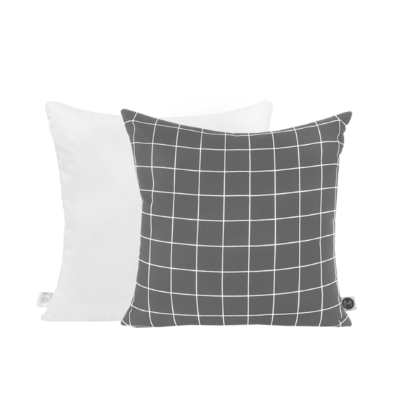 Grid Cushion Grey - Clkspace