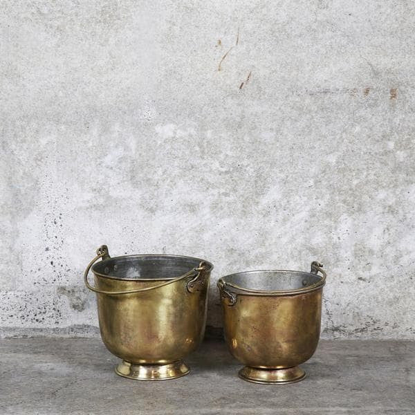 Anglo-Indian Brass Ice Bucket - Clkspace