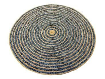 Denim and Jute Rug - Clkspace