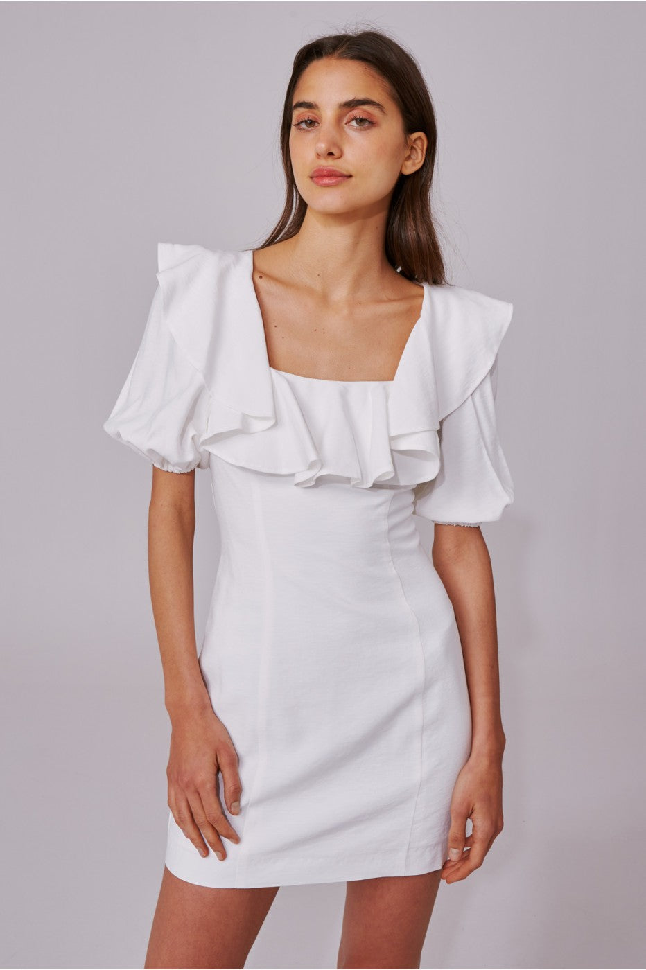 C/MEO Collective New Places Ss Dress Ivory