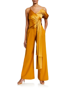 Jonathan Simkhai Fluid Satin Assym Top Honey