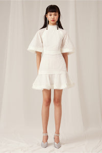 Keepsake Ardour Mini Dress Porcelain