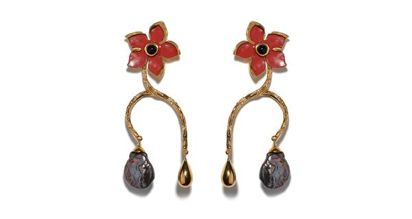 Lizzie Fortunato Poinsettia Vine Earrings