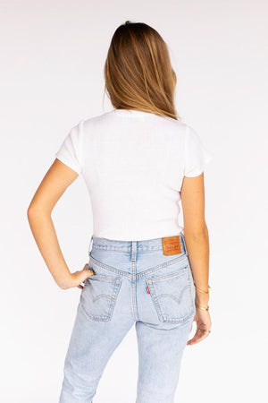 Pretty The White Rib-Tee Shirt
