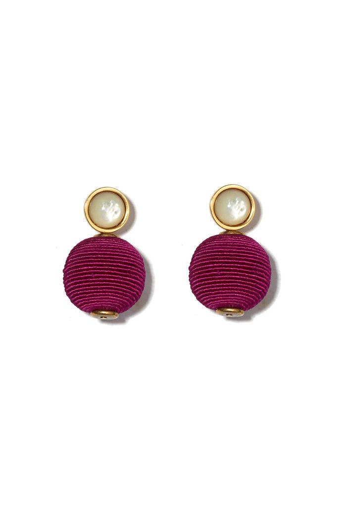 Lizzie Fortunato Pink Mara Earrings