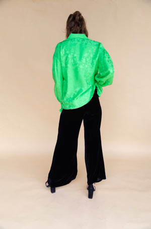 Les Rêveries Black Velvet Lounge Pants