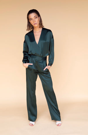 Michelle Mason Wide Leg Bottle Trouser